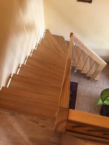 mediniai idomus laiptai
